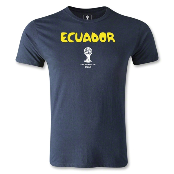 Ecuador 2014 FIFA World Cup Brazil(TM) Men's Premium Core T-Shirt (Navy)