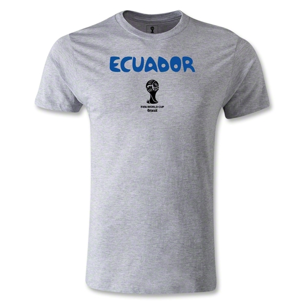 Ecuador 2014 FIFA World Cup Brazil(TM) Men's Premium Core T-Shirt (Grey)