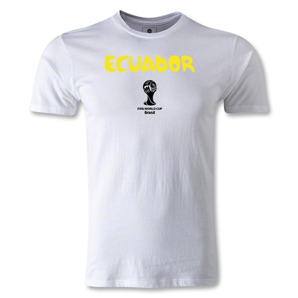 Ecuador 2014 FIFA World Cup Brazil(TM) Men's Premium Core T-Shirt (White)