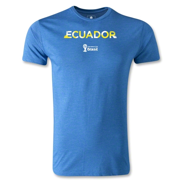 Ecuador 2014 FIFA World Cup Brazil(TM) Men's Premium Palm T-Shirt (Heather Royal)