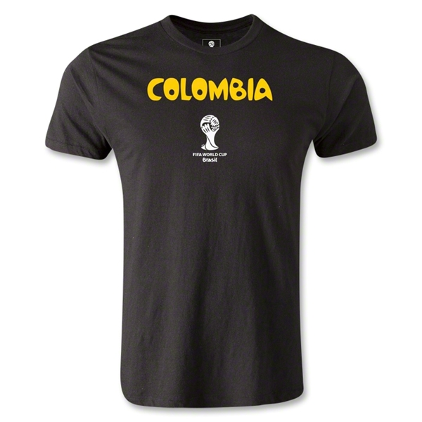 Colombia 2014 FIFA World Cup Brazil(TM) Men's Premium Core T-Shirt (Black)