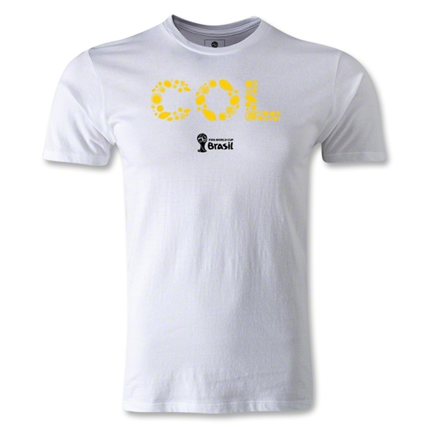 Colombia 2014 FIFA World Cup Brazil(TM) Men's Premium Elements T-Shirt (White)