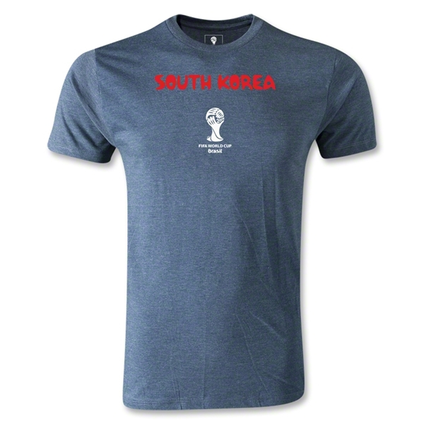 South Korea 2014 FIFA World Cup Brazil(TM) Men's Premium Core T-Shirt (Blue)
