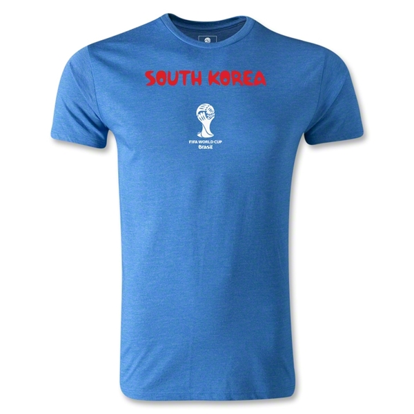 South Korea 2014 FIFA World Cup Brazil(TM) Men's Premium Core T-Shirt (Heather Royal)
