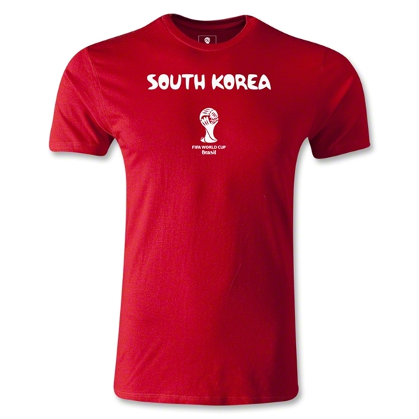 South Korea 2014 FIFA World Cup Brazil(TM) Men's Fashion Core T-Shirt (Red)