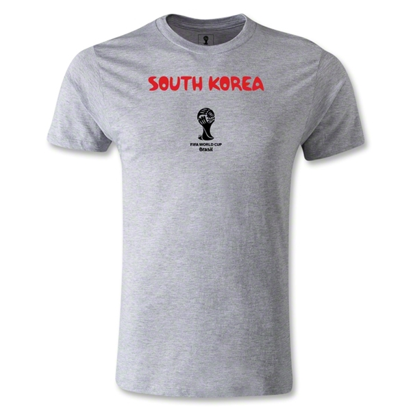 South Korea 2014 FIFA World Cup Brazil(TM) Men's Fashion Core T-Shirt (Gray)