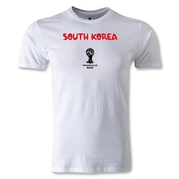 South Korea 2014 FIFA World Cup Brazil(TM) Men's Premium Core T-Shirt (White)
