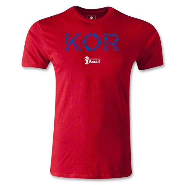 South Korea 2014 FIFA World Cup Brazil(TM) Men's Fashion Elements T-Shirt (Red)