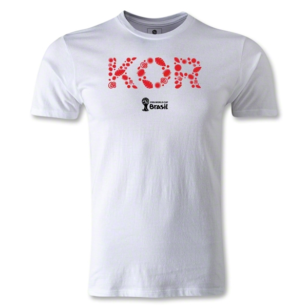South Korea 2014 FIFA World Cup Brazil(TM) Men's Fashion Elements T-Shirt (White)