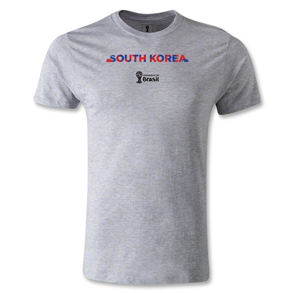 South Korea 2014 FIFA World Cup Brazil(TM) Men's Premium Palm T-Shirt (Gray)