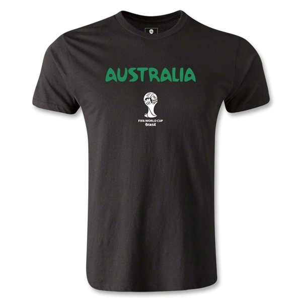 Australia 2014 FIFA World Cup Brazil(TM) Core Men's Fashion T-Shirt (Black)