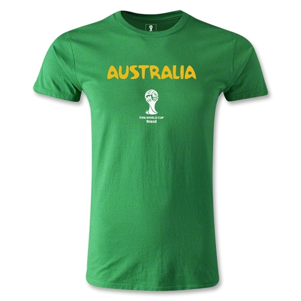 Australia 2014 FIFA World Cup Brazil(TM) Men's Fashion Core T-Shirt (Green)