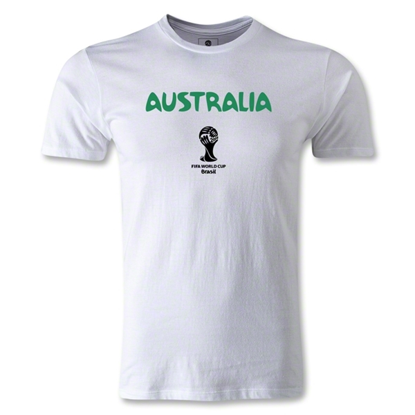 Australia 2014 FIFA World Cup Brazil(TM) Men's Premium Core T-Shirt (White)