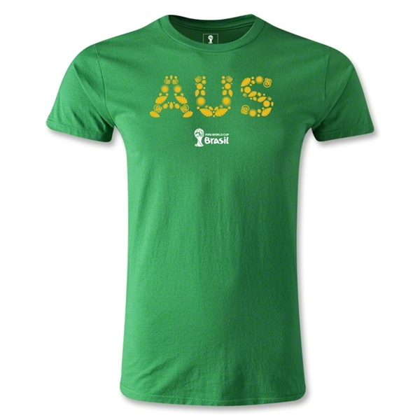 Australia 2014 FIFA World Cup Brazil(TM) Men's Fashion Elements T-Shirt (Green)