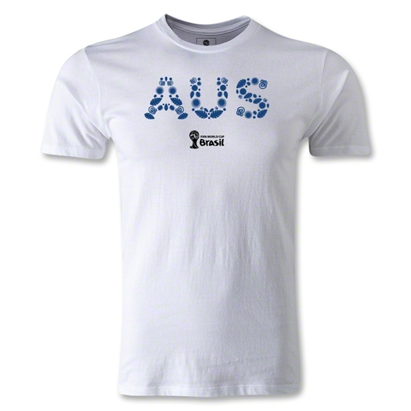 Australia 2014 FIFA World Cup Brazil(TM) Men's Fashion Elements T-Shirt (White)