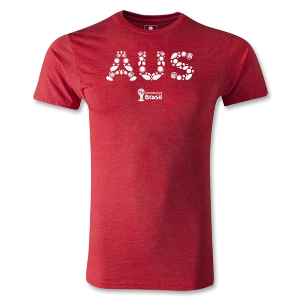 Australia 2014 FIFA World Cup Brazil(TM) Men's Premium Elements T-Shirt (Heather Red)