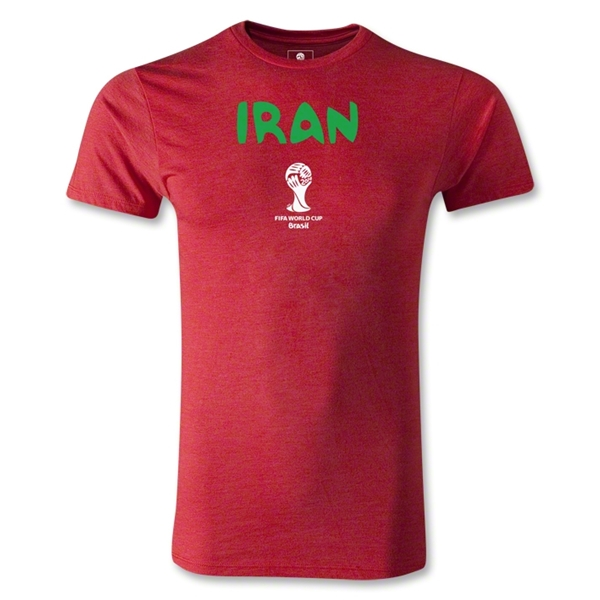 Iran 2014 FIFA World Cup Brazil(TM) Men's Premium Core T-Shirt (Heather Red)
