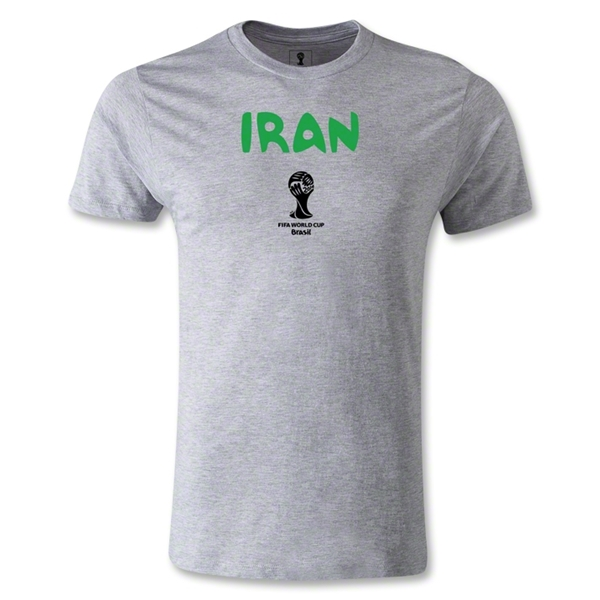 Iran 2014 FIFA World Cup Brazil(TM) Men's Premium Core T-Shirt (Grey)