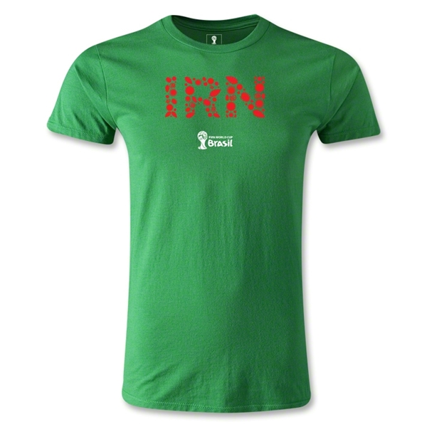 Iran 2014 FIFA World Cup Brazil(TM) Men's Premium Elements T-Shirt (Green)