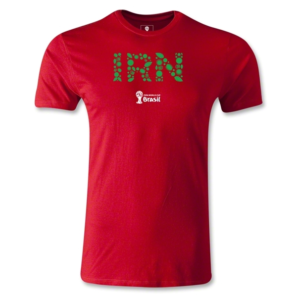 Iran 2014 FIFA World Cup Brazil(TM) Men's Fashion Elements T-Shirt (Red)