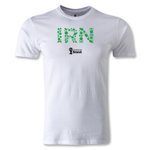 Iran 2014 FIFA World Cup Brazil(TM) Men's Fashion Elements T-Shirt (White)