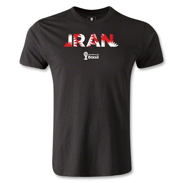 Iran 2014 FIFA World Cup Brazil(TM) Men's Fashion Palm T-Shirt (Black)