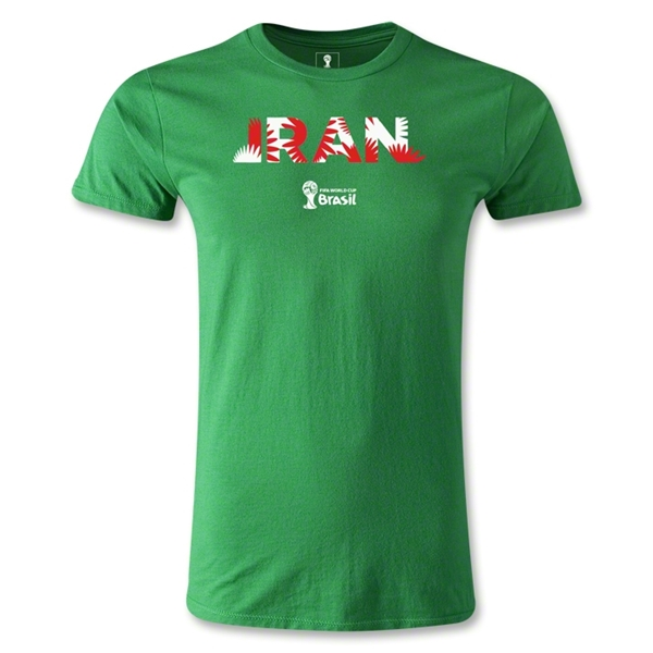 Iran 2014 FIFA World Cup Brazil(TM) Men's Fashion Palm T-Shirt (Green)