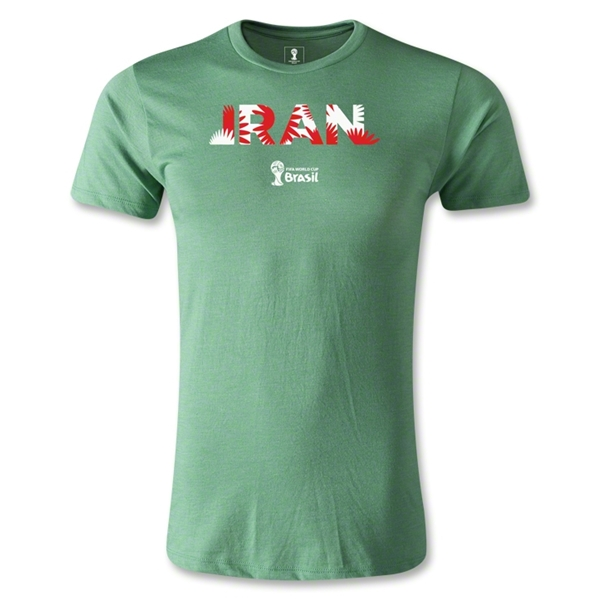 Iran 2014 FIFA World Cup Brazil(TM) Men's Premium Palm T-Shirt (Heather Green)