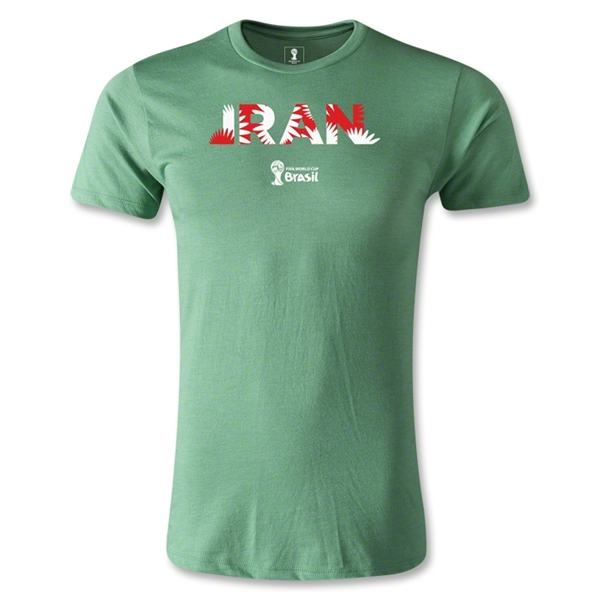 Iran 2014 FIFA World Cup Brazil(TM) Men's Fashion Palm T-Shirt (Heather Green)