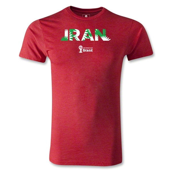 Iran 2014 FIFA World Cup Brazil(TM) Men's Fashion Palm T-Shirt (Heather Red)