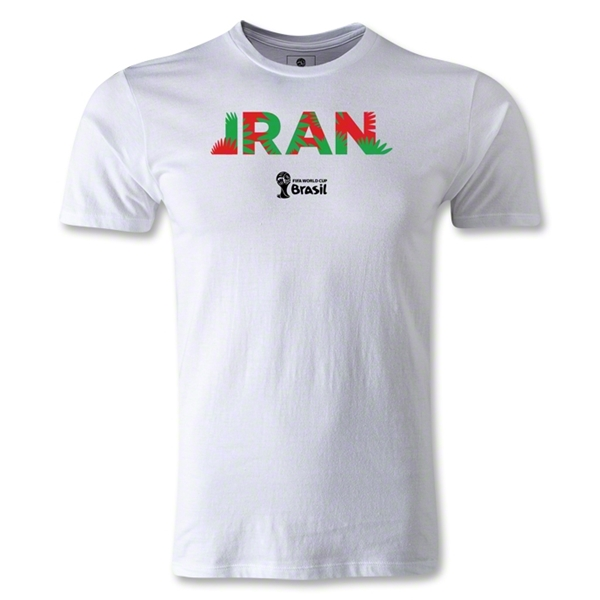 Iran 2014 FIFA World Cup Brazil(TM) Men's Fashion Palm T-Shirt (White)