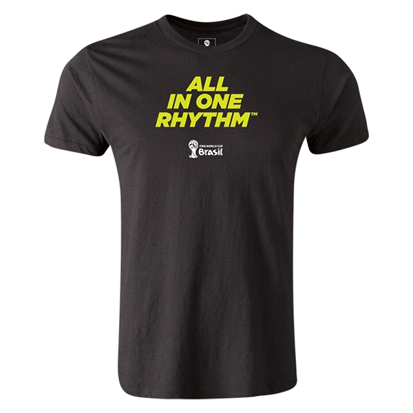 2014 FIFA World Cup Brazil(TM) Men's Premium All In One Rhythm T-Shirt (Black)