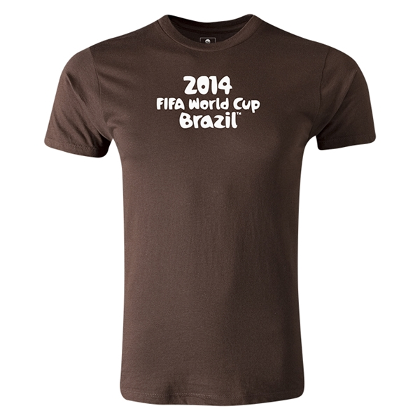 2014 FIFA World Cup Brazil(TM) Logotype T-Shirt (Brown)