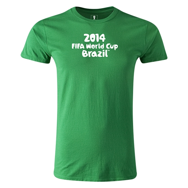 2014 FIFA World Cup Brazil(TM) Men's Premium Logotype T-Shirt (Green)