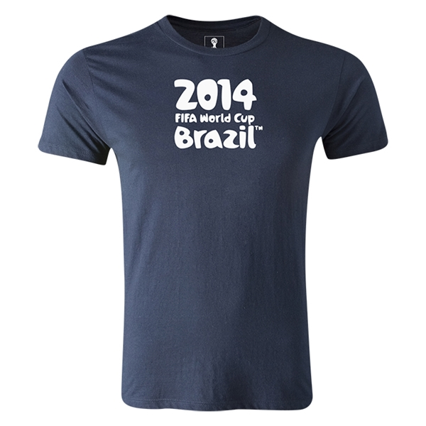 2014 FIFA World Cup Brazil(TM) Men's Premium Logotype T-Shirt (Navy)
