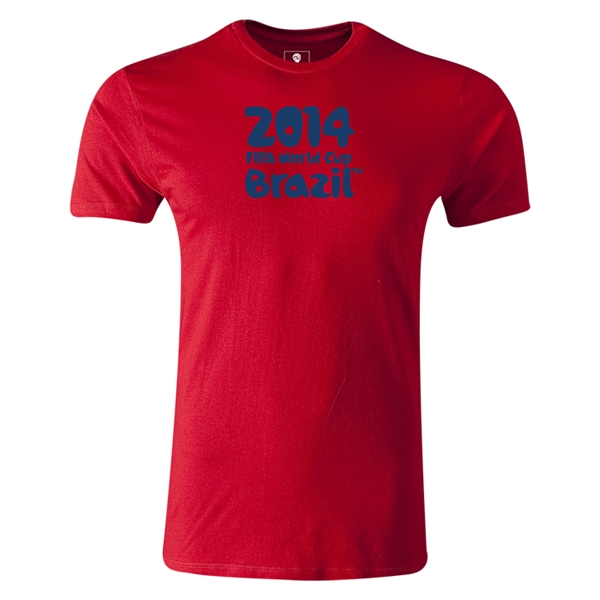 2014 FIFA World Cup Brazil(TM) Men's Premium Logotype T-Shirt (Red)