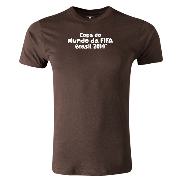 2014 FIFA World Cup Brazil(TM) Men's Premium Portugese Logotype T-Shirt (Brown)