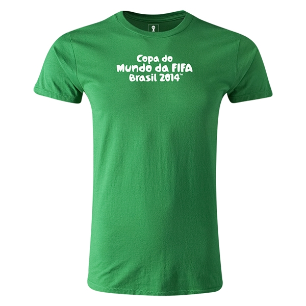 2014 FIFA World Cup Brazil(TM) Men's Premium Portugese Logotype T-Shirt (Green)