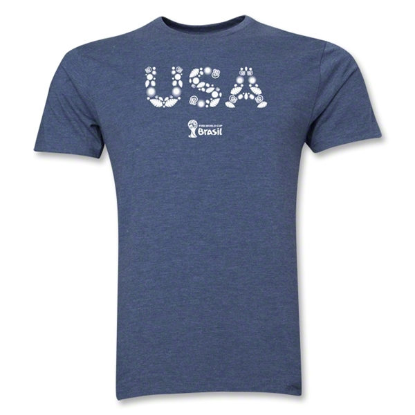 USA 2014 FIFA World Cup Brazil(TM) Men's Premium Elements T-Shirt (Blue)