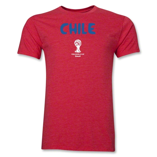 Chile 2014 FIFA World Cup Brazil(TM) Men's Premium Core T-Shirt (Heather Red)
