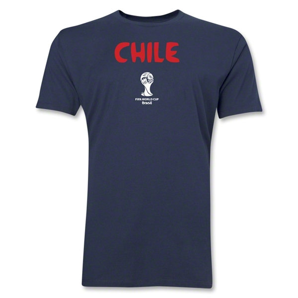 Chile 2014 FIFA World Cup Brazil(TM) Men's Premium Core T-Shirt (Navy)