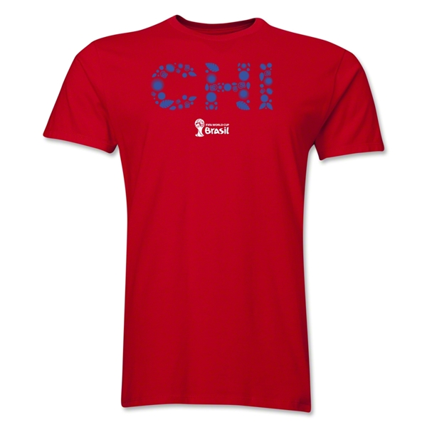Chile 2014 FIFA World Cup Brazil(TM) Men's Premium Elements T-Shirt (Red)