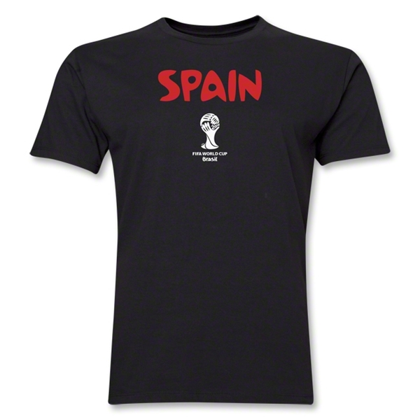 Spain 2014 FIFA World Cup Brazil(TM) Men's Premium Core T-Shirt (Black)