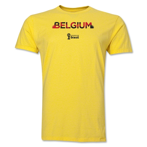 Belgium 2014 FIFA World Cup Brazil(TM) Men's Premium Elements T-Shirt (Yellow)