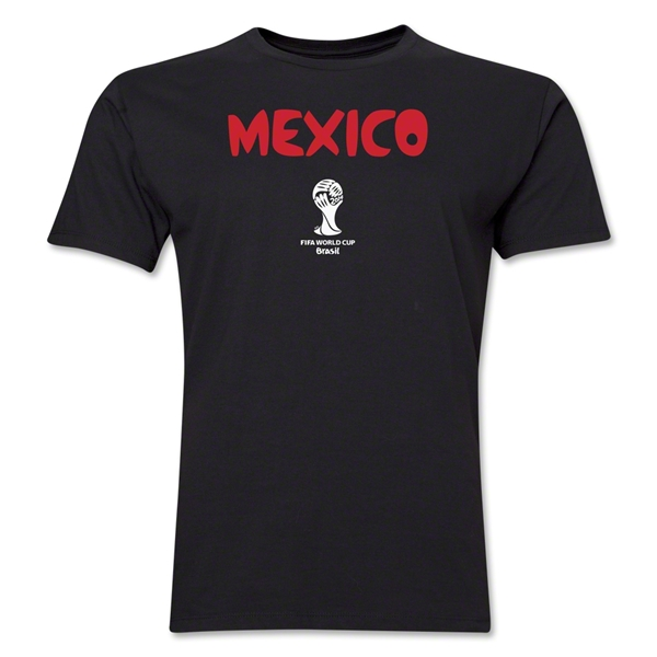 Mexico 2014 FIFA World Cup Brazil(TM) Men's Premium Core T-Shirt (Black)