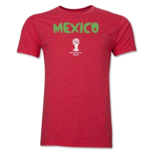 Mexico 2014 FIFA World Cup Brazil(TM) Men's Premium Core T-Shirt (Heather Red)