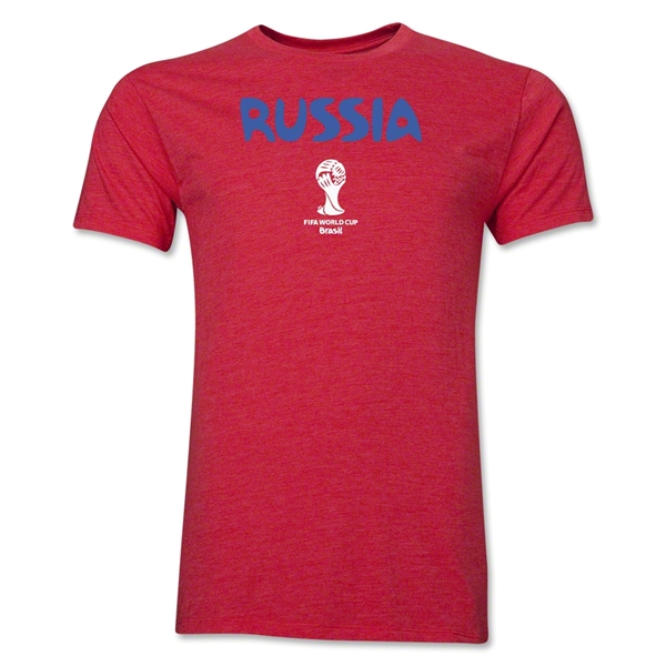 Russia 2014 FIFA World Cup Brazil(TM) Men's Premium Core T-Shirt (Heather Red)