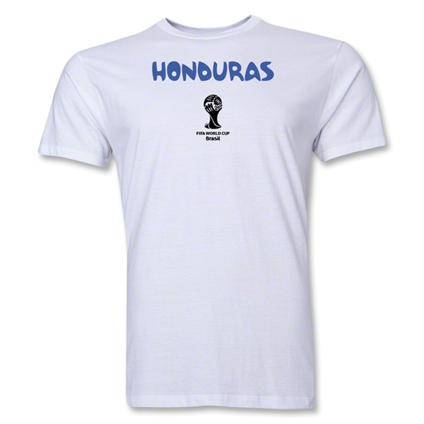 Honduras 2014 FIFA World Cup Brazil(TM) Men's Premium Core T-Shirt (White)