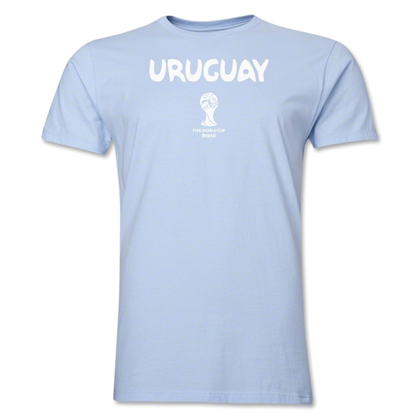 Uruguay 2014 FIFA World Cup Brazil(TM) Men's Premium Core T-Shirt (Sky)