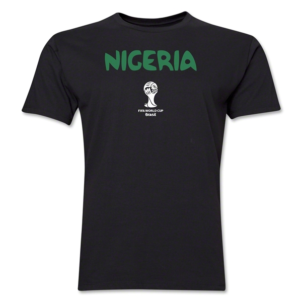 Nigeria 2014 FIFA World Cup Brazil(TM) Men's Premium Core T-Shirt (Black)
